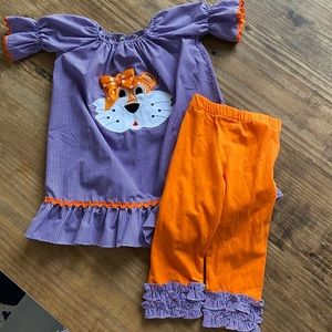 Purple and Orange Tiger outfit